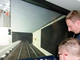 Einweisung am Simulator