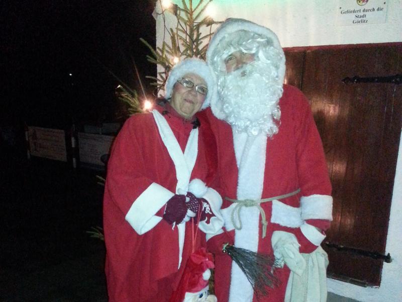 Weihnachtsmann und Weihnachtsfrau